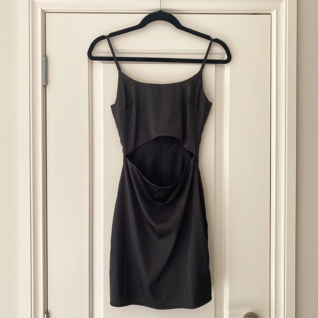 Black Cut Out Bodycon Dress