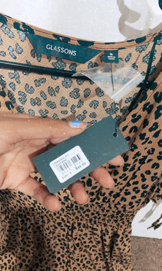 Brand new glassons cheetah print dress