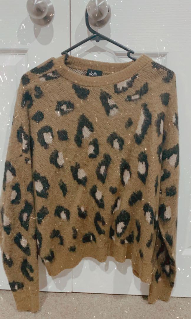 Cheetah print knit wear