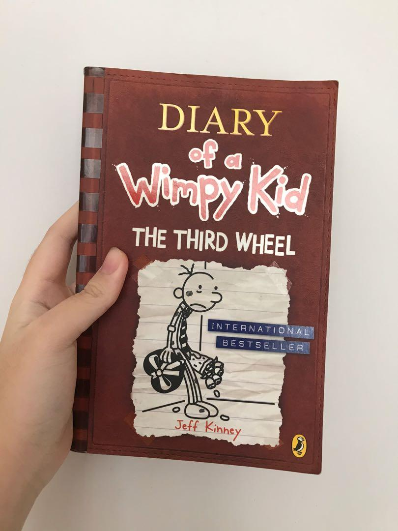 Diary Of A Wimpy Kid The Third Wheel Books Stationery Children S Books On Carousell