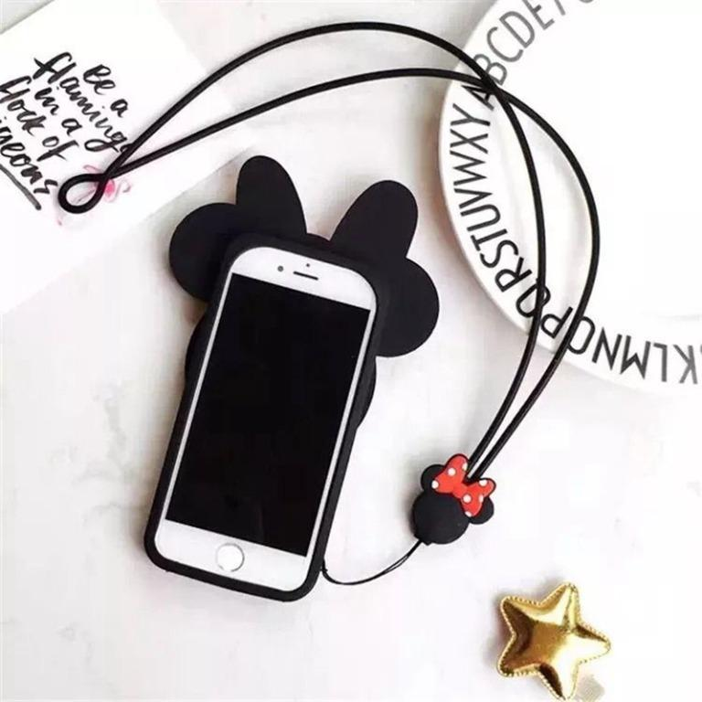 DON'T MISS!! Kate Spade Disney Minnie Mouse Apple iPhone Silicone Case