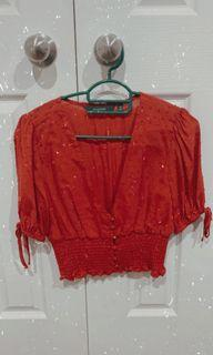 Glassons red blouse