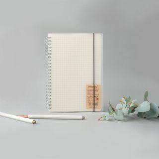 Grid Notebook Minimalist Muji Inspired