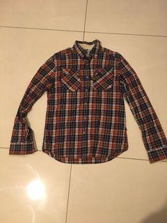G-star 格子襯衫 L號