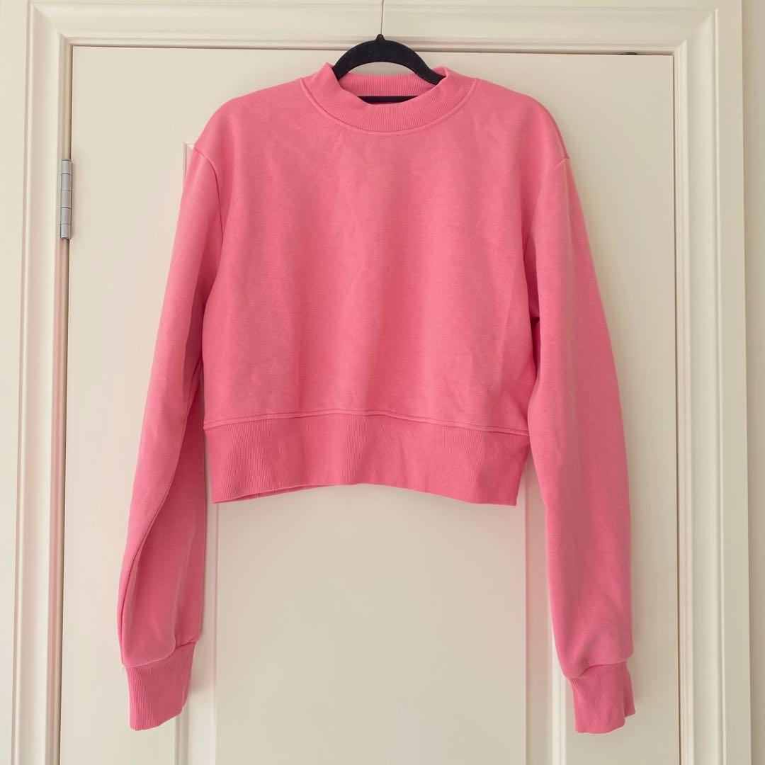 Pink Cropped Jumper from ASOS