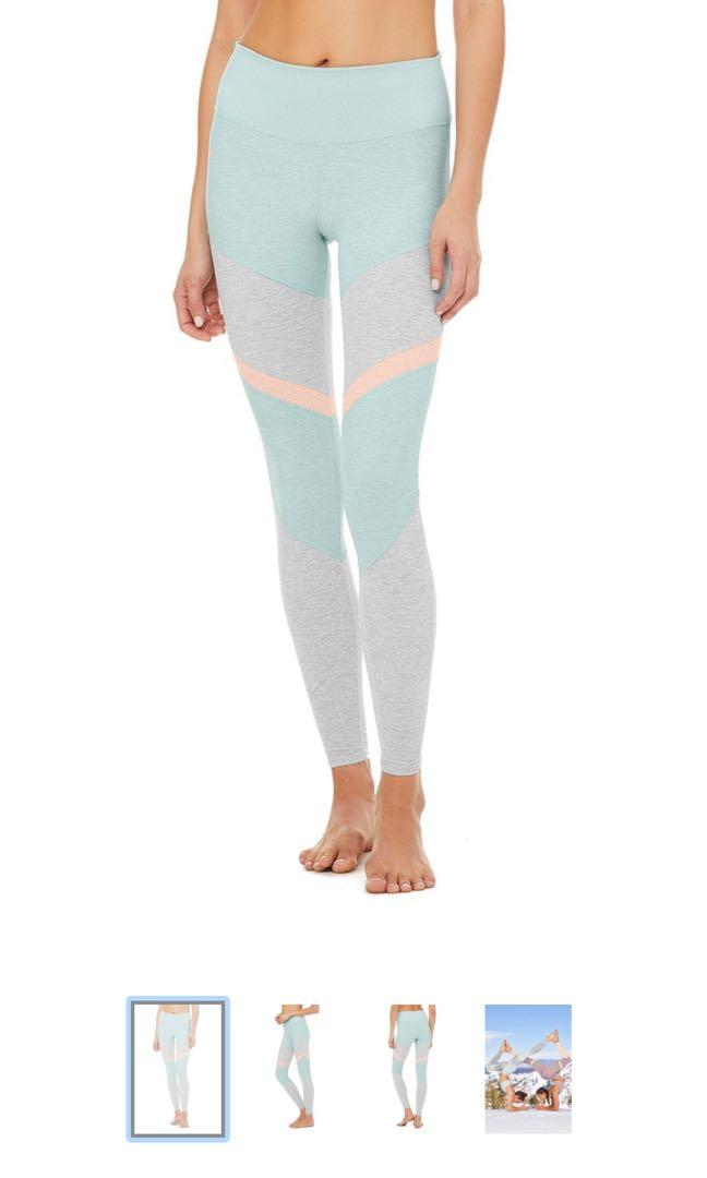 Alo Yoga High Walosoft Sheila Legging Cloud Heather Sports Sports Apparel On Carousell