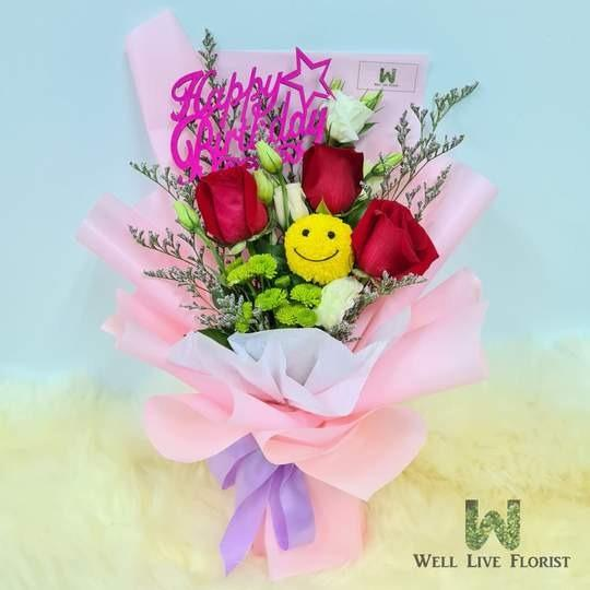 Emery Fresh Cut Mix Flower Birthday Bouquet Birthday Flower Free Delivery Florist Singapore Flower Delivery Gardening Flowers Bouquets On Carousell