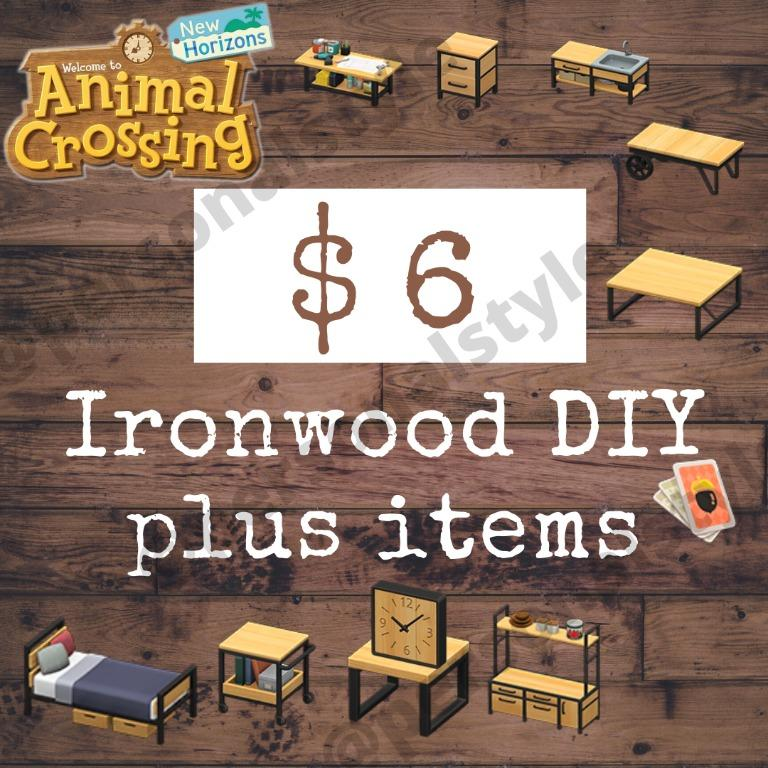 Ironwood Set DIY, Furniture, Animal Crossing New Horizons ... on Ironwood Furniture Animal Crossing  id=90856