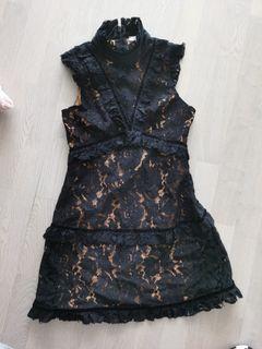 No•An lace black dress