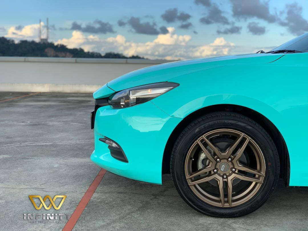 Premium Tiffany Blue In Mazda 3 Wrap Sticker Vinyl Car Accessories Car Workshops Services On Carousell