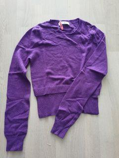 Sandro purple sweater dry cleaned