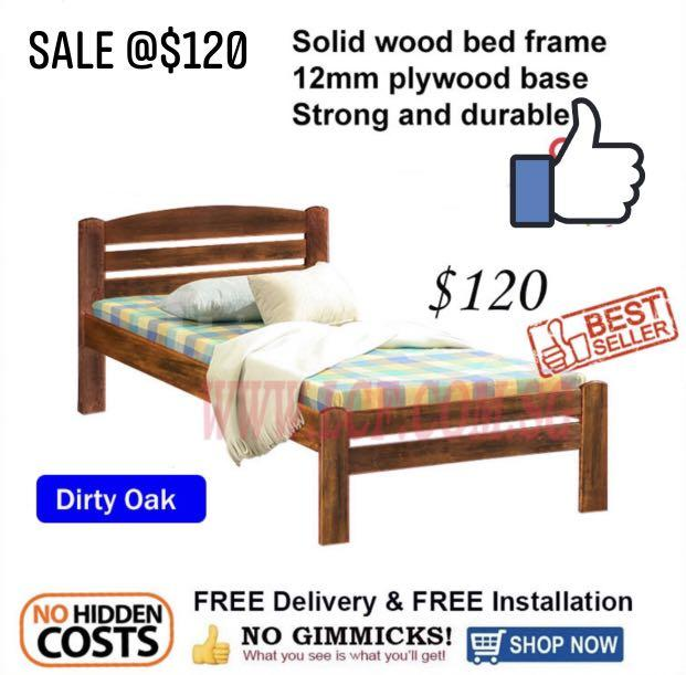 Solid Wood Single Bed Furniture, Wood You Furniture