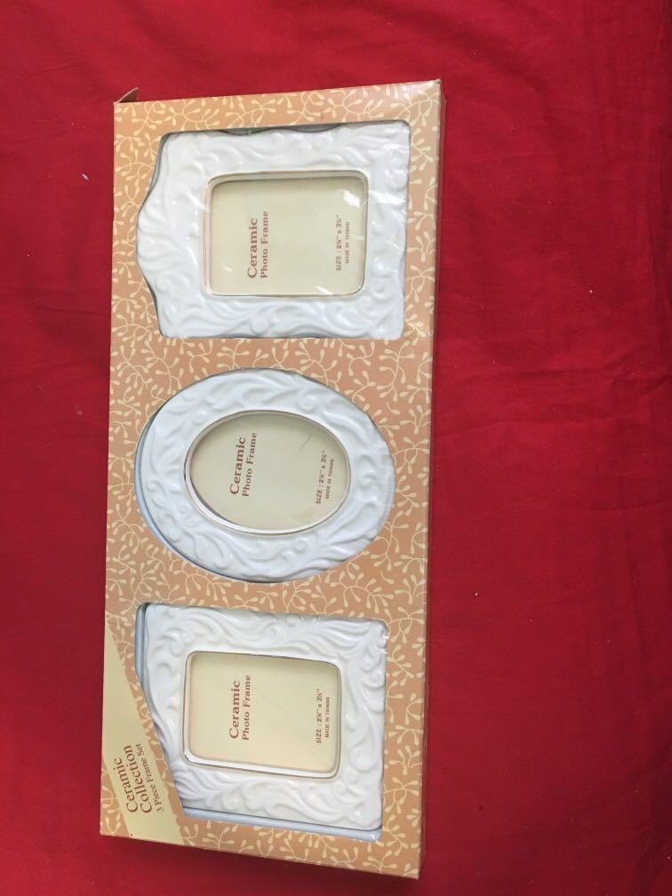 3 piece ceramic picture frame set