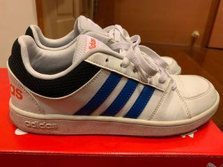 正版Adidas 日本帶回 藍橘配色小白鞋 24cm #新開始