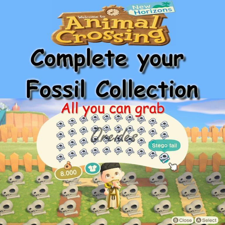 Animal Crossing New Horizons, All Fossils, Toys & Games ...