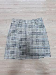 Brown Tartan Skirt