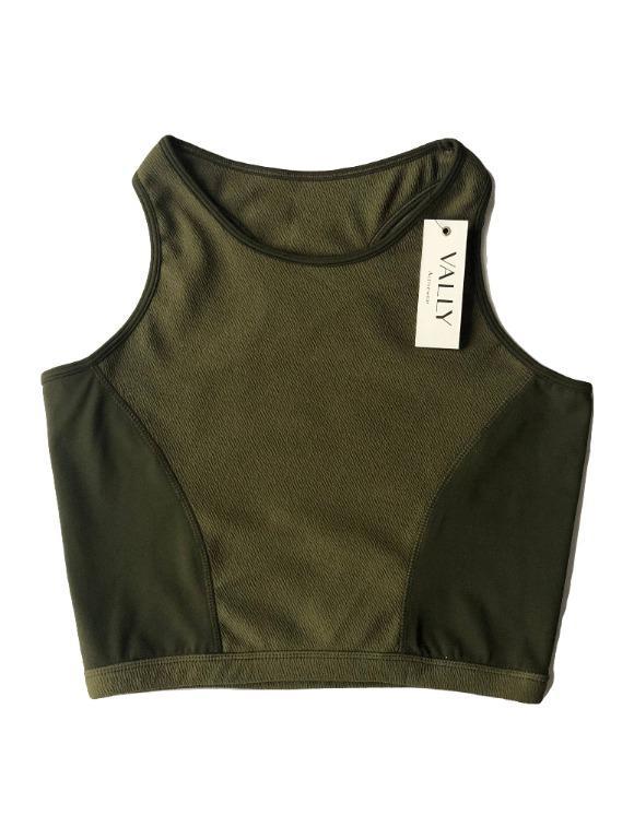 Crop Top Sports Bra - Green Army
