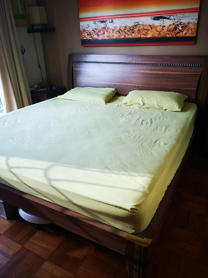 Picture of: King Size Bed With Mattress Furniture Beds Mattresses On Carousell