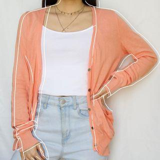 Peach cardigan