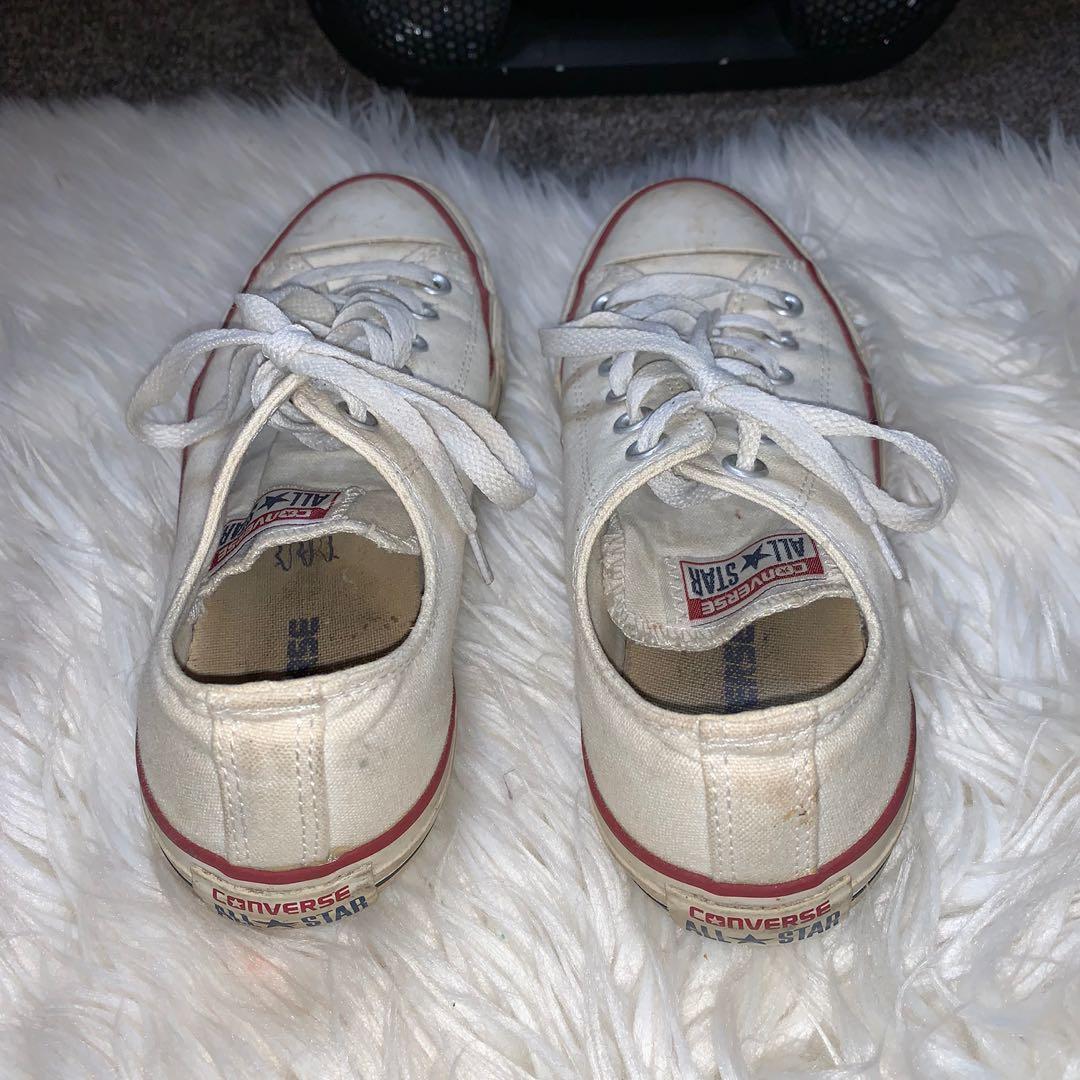 Size 8 white chucks