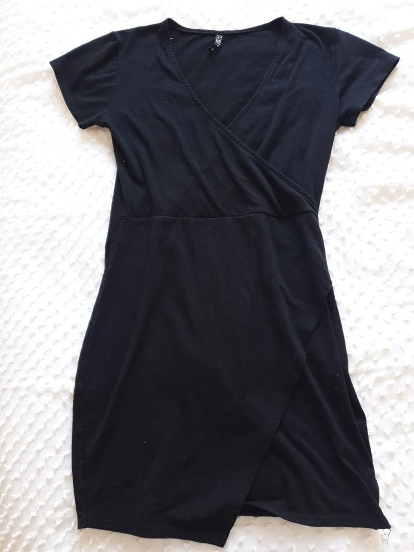 Size M Black Sretch Mini Dress