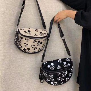 Sling Bag - Mickey Head - Black and White - Preorder