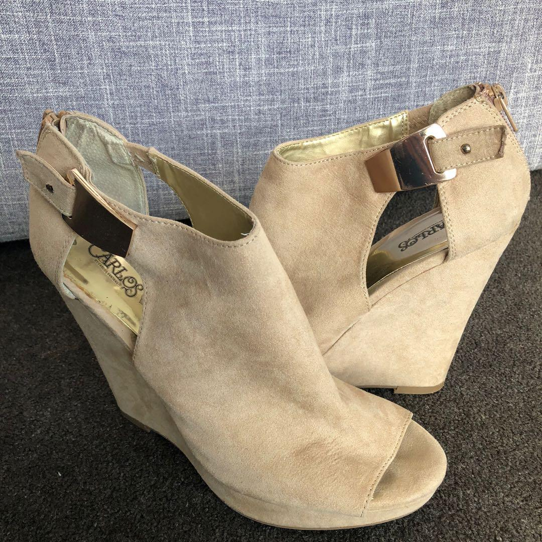 Tan Wedges Size 9.5-10US