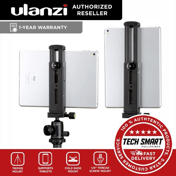 ULANZI U-Pad Pro Tablet Tripod Mount with Cold Shoe Compatible for iPad, Metal Tablet Tripod Adapter Holder with Quick Release Plate 1/4'' Screw Mount Universal for iPad Mini/iPad 4/iPad Pro/Surface Pro