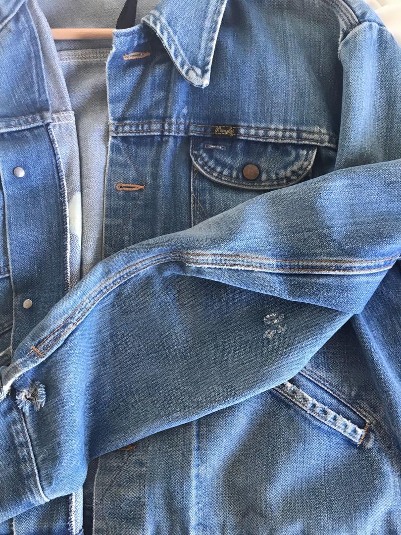 Vintage Wrangler Denim Jacket - Distressed