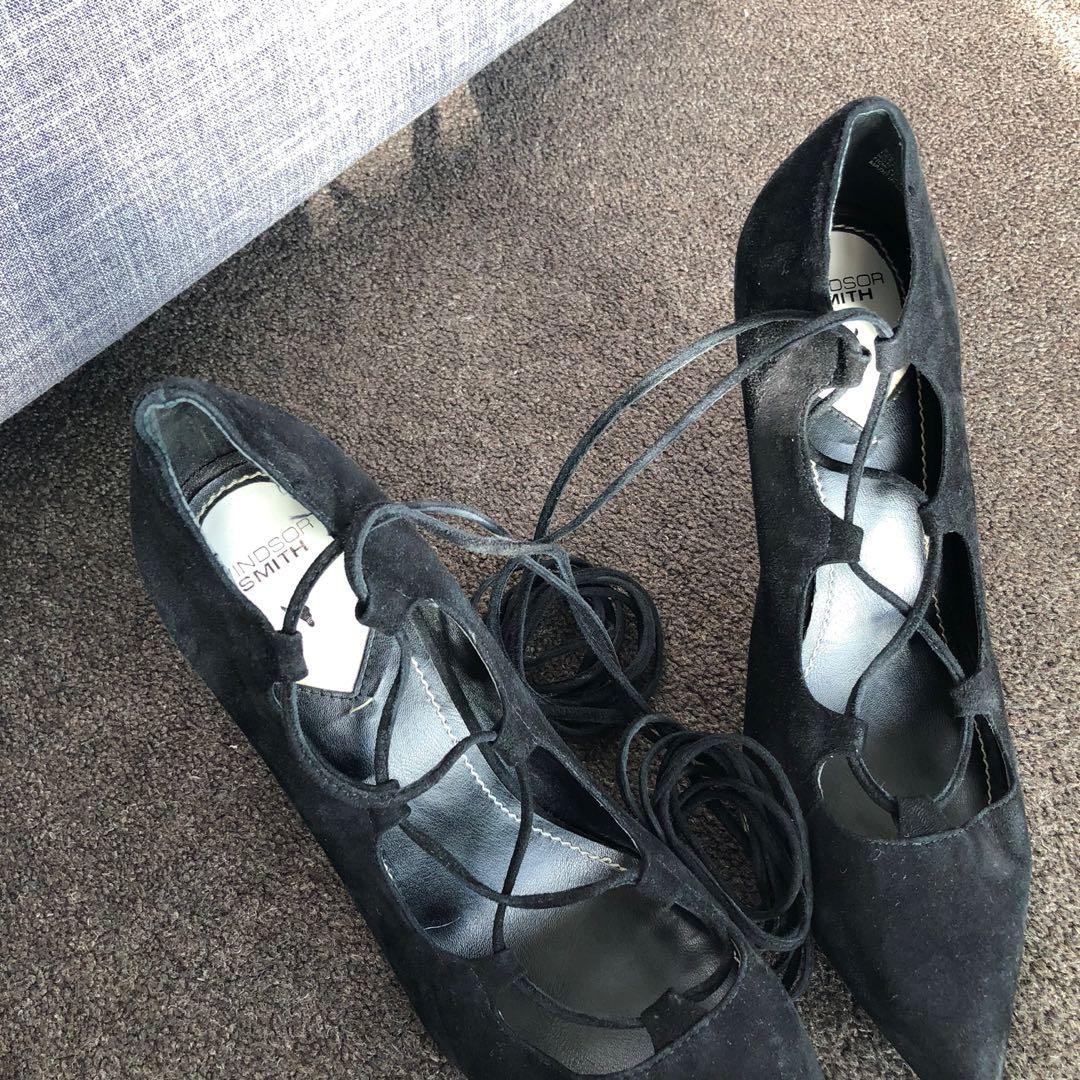 Windsor smith lace up heels // Size 9.5US