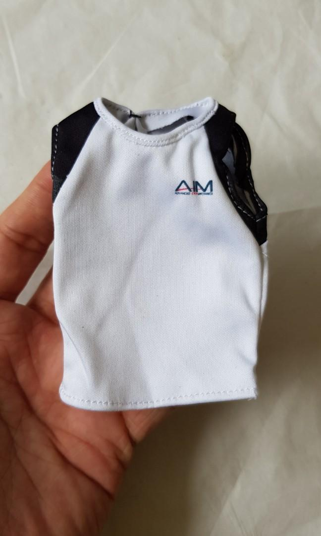 Black Sleeveless Shirt 1//6 Scale Toy SHIRT