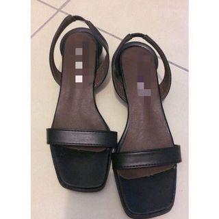 復古低根涼鞋