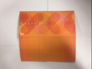 東海堂餅卡 橙色 面值 $50 每張售 $39.5, 連結婚封套