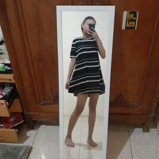 A-line stripe dress