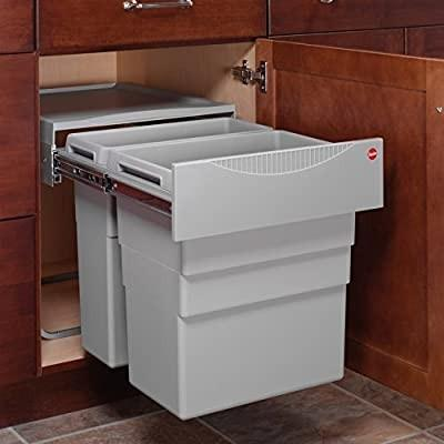 BRAND NEW Hailo Easy Cargo 50 Double waste bin pull out
