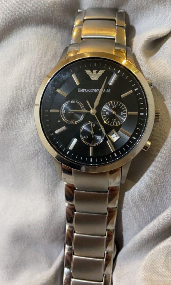 Emporio Armani silver men's watch