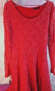 Mididress red (lacedress)