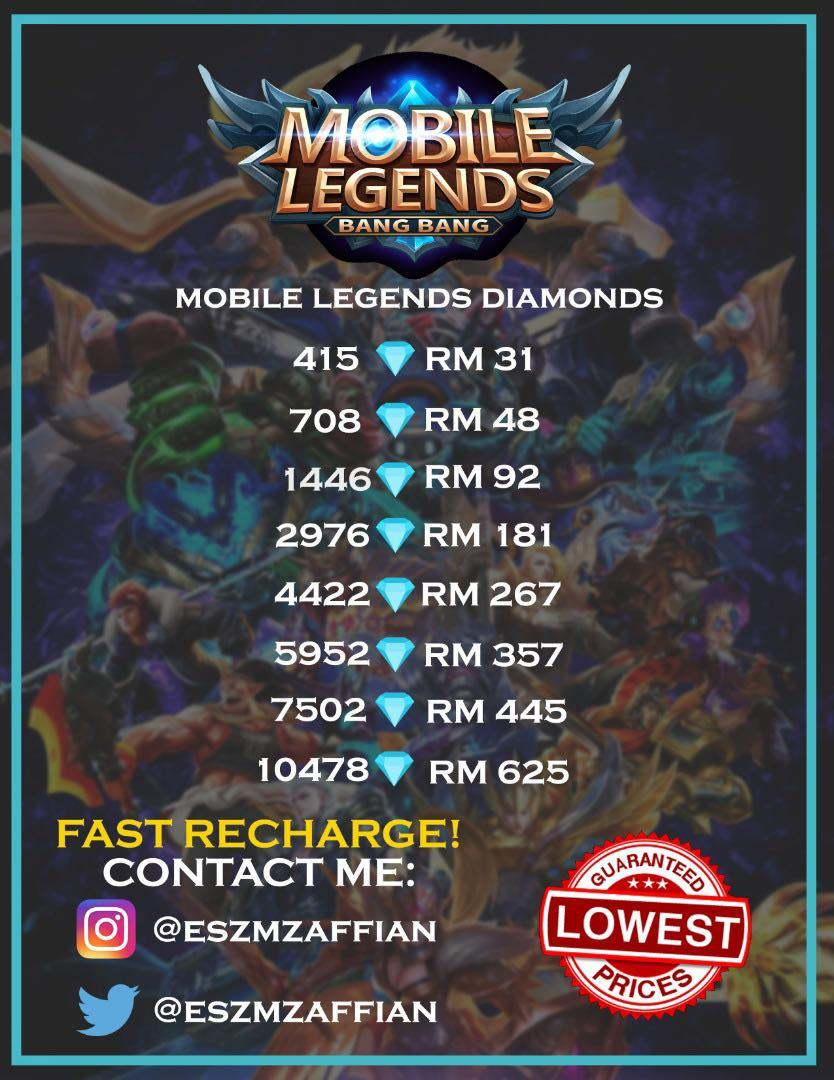 Mobile Legends Diamonds Murah Video Gaming Others On Carousell