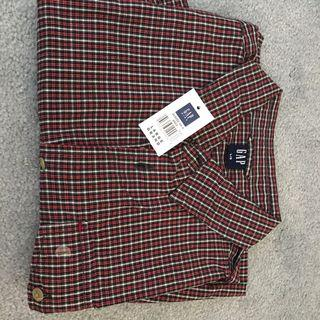 New with tags gap plaid short sleeve