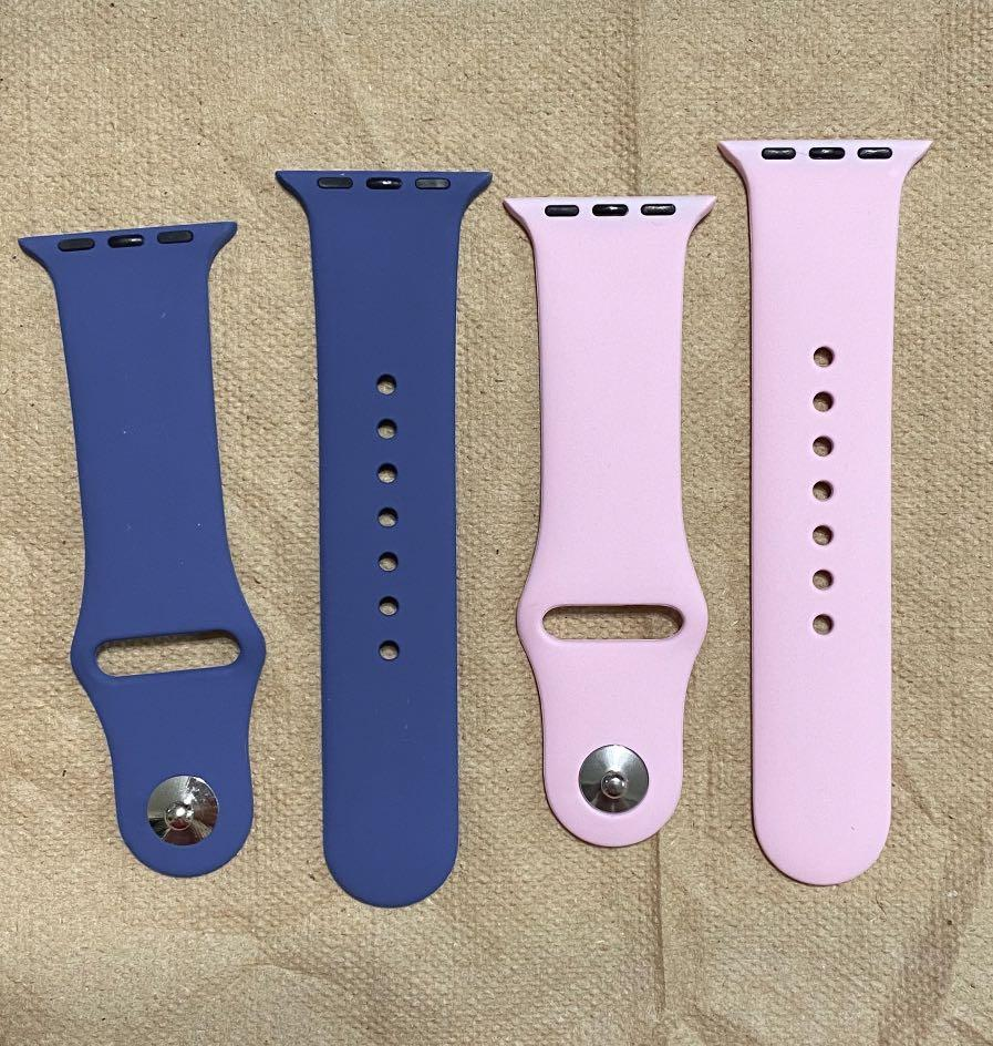 TAKE BOTH FOR $10! Pink & Blue S/M Apple watch Straps from amazon