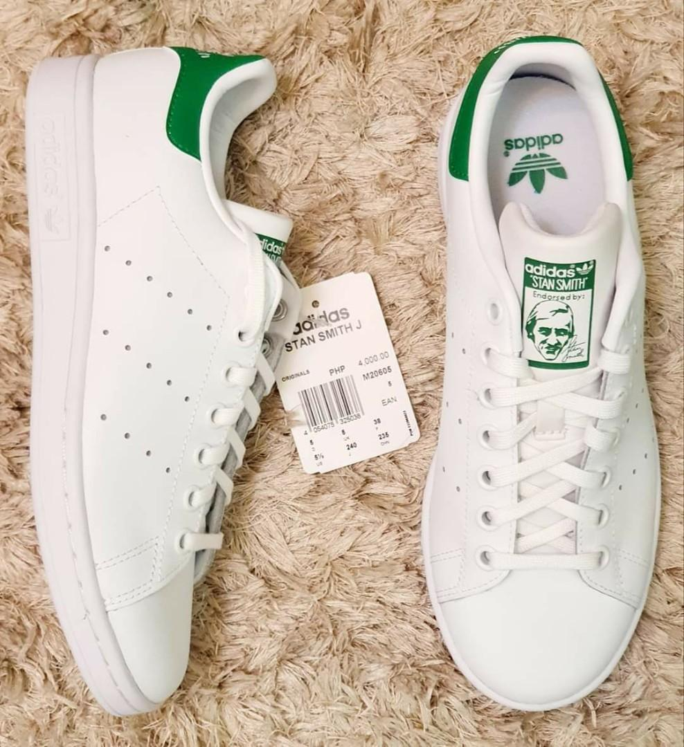 Solenoide hará Planificado  RESTOCK: Adidas Stan Smith size 3.5J (fits 5-6 US women), 5.5J (fits 7-8 US  women)(2 pairs) and 6.5J (fits 8-9 US women). 2990. Before: 4000, Women's  Fashion, Shoes, Sneakers on Carousell
