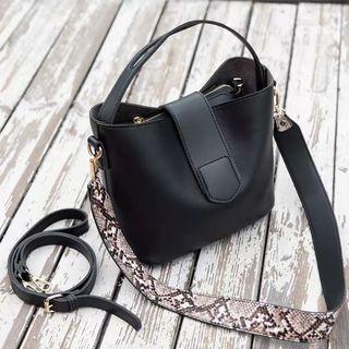 Sling Bucket Bag - Black Color Ready Stock