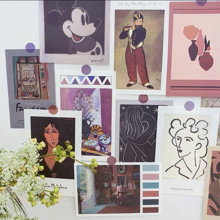 1115 Tumblr Basic Ulzzang Photocards Wall Decoration Small Art Vintage Retro Prints With Stickers Design Craft On Carousell
