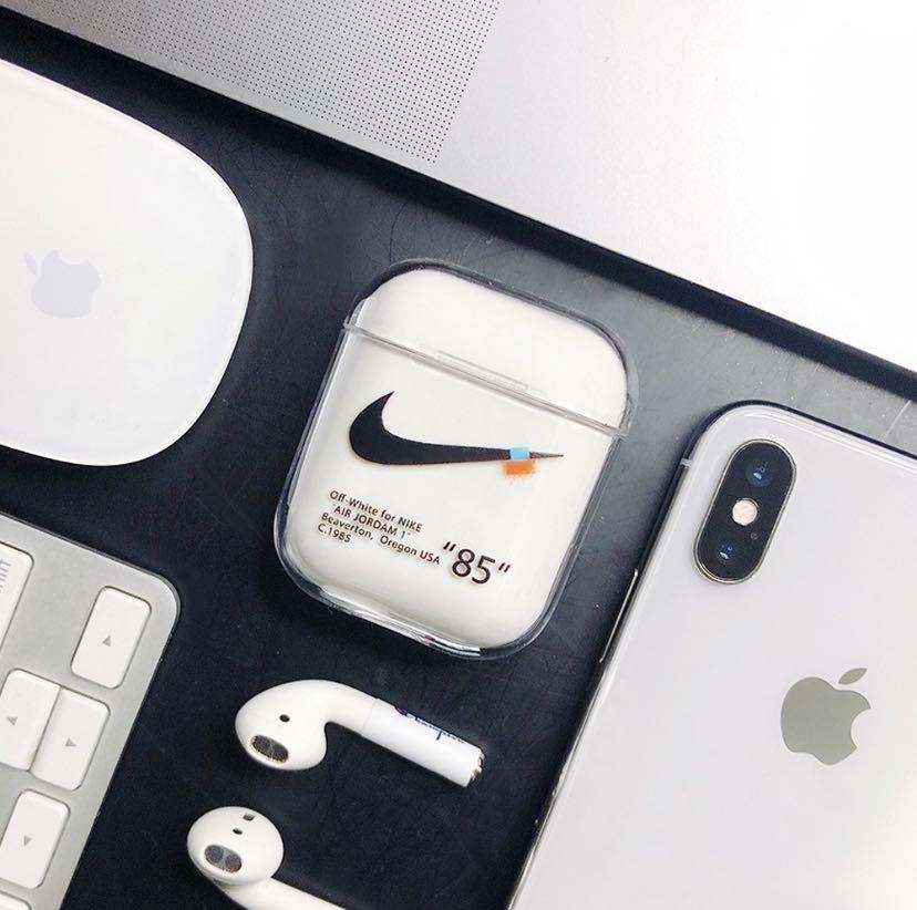 1 Instock Off White Hard Airpods Case On Carousell