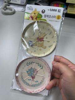 韓國 大創 小熊維尼 飾品 置物 盤