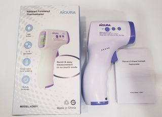 AiQURA非接觸式紅外線額頭體溫計