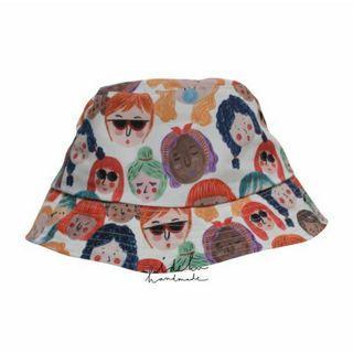 Bucket Hat Faces Ideku Handmade