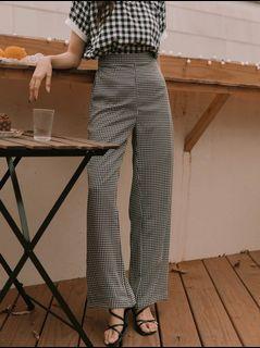 Checkered Wide Leg Pants