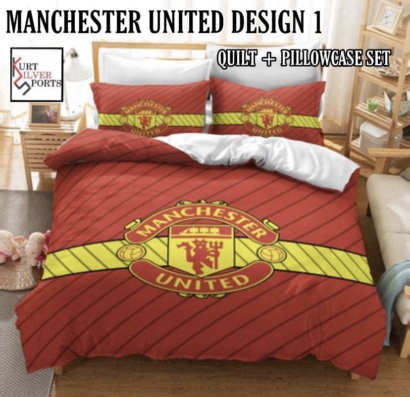 Football Quilt Cover And Pillowcase Set Furniture Beds Mattresses On Carousell