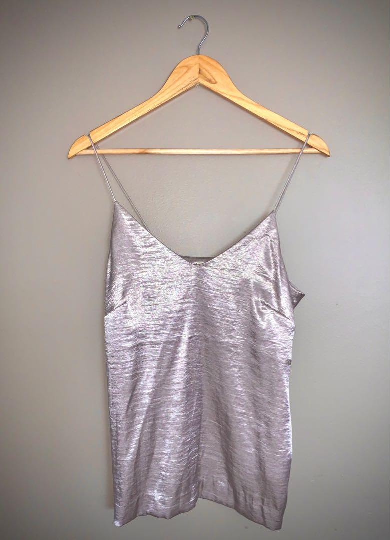 Pink Silver Top